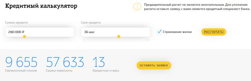 Кредитный калькулятор в банке Кубань Кредит